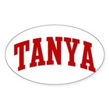 TANYA (red) Oval Decal