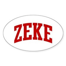 ZEKE (red) Oval Decal