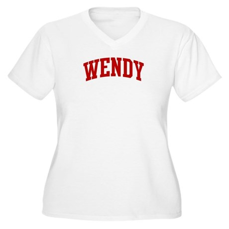 WENDY (red) Women's Plus Size V-Neck T-Shirt