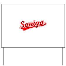 Retro Saniya (Red) Yard Sign