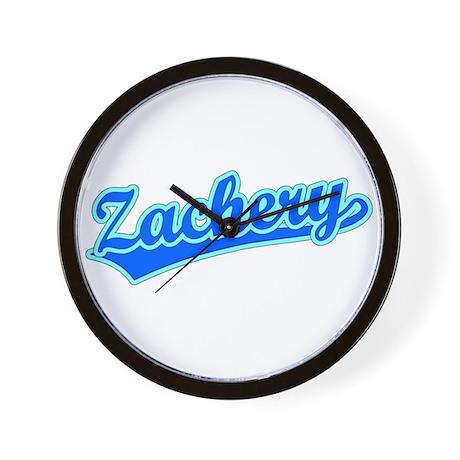 Retro Zachery (Blue) Wall Clock