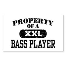 Property of a Bass Player Rectangle Decal
