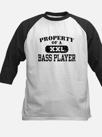Property of a Bass Player Kids Baseball Jersey