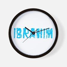 Ibrahim Faded (Blue) Wall Clock