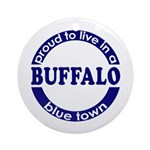 Buffalo: Blue Town Keepsake (Round)