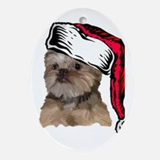 Brussels Griffon Christmas Oval Ornament