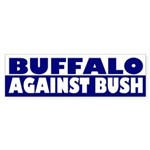 Buffalo Against Bush bumper sticker