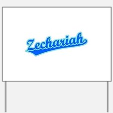 Retro Zechariah (Blue) Yard Sign