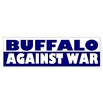 Buffalo Against War (bumper sticker)