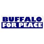 Buffalo for Peace (bumper sticker)