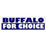 Buffalo for Choice (bumper sticker)