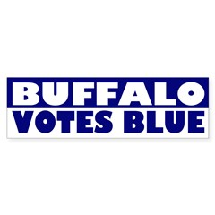 Buffalo Votes Blue (bumper sticker)