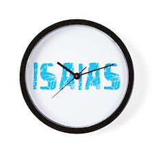 Isaias Faded (Blue) Wall Clock