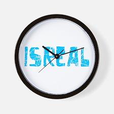 Isreal Faded (Blue) Wall Clock