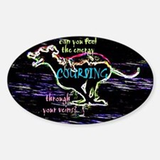 Lure coursing Ridgeback Oval Decal