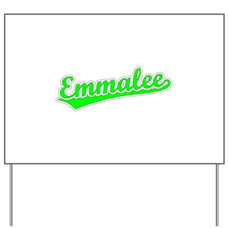 Retro Emmalee (Green) Yard Sign