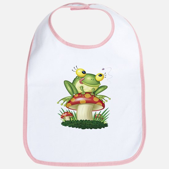 Frog & Toad stool (Front only) Bib
