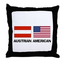 Austrian American Throw Pillow