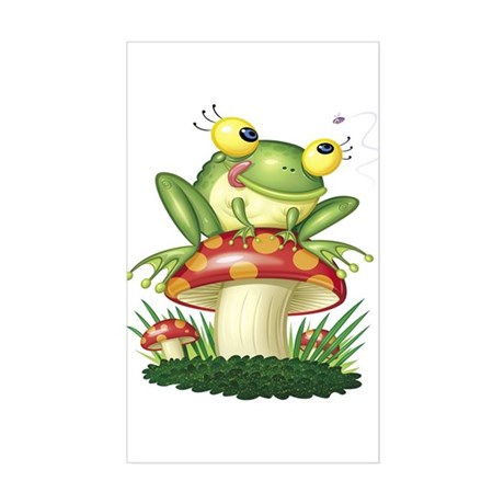 Frog & Toad stool Rectangle Sticker