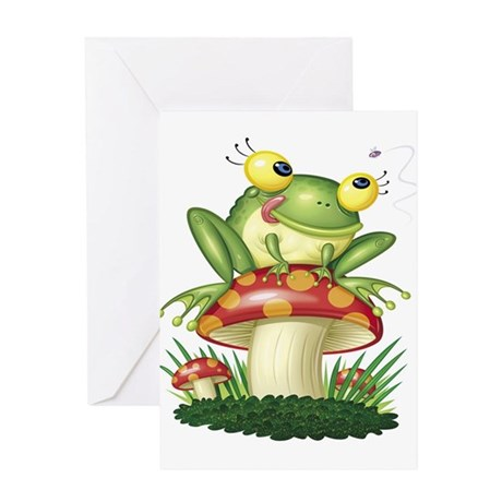 Frog & Toad stool Greeting Card
