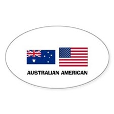 Australian American Oval Decal