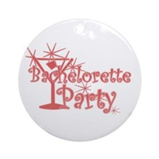 Red C Martini Bachelorette Party Ornament (Round)