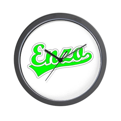 Retro Enzo (Green) Wall Clock