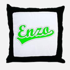 Retro Enzo (Green) Throw Pillow