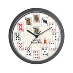 Playing Cards Wall Clock