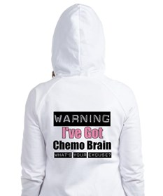 Chemo Brain (pink) Fitted Hoodie