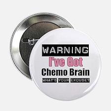 "Chemo Brain (pink) 2.25"" Button"