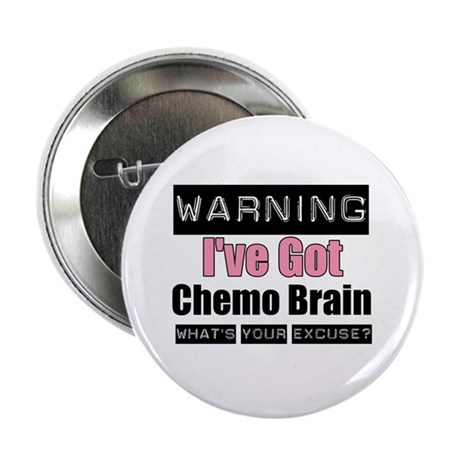 """Chemo Brain (pink) 2.25"""" Button (10 pack)"""