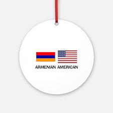 Armenian American Ornament (Round)