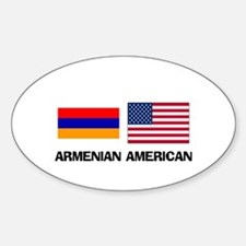 Armenian American Oval Decal