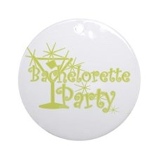 Yellow C Martini Bachelorette Party Ornament (Roun