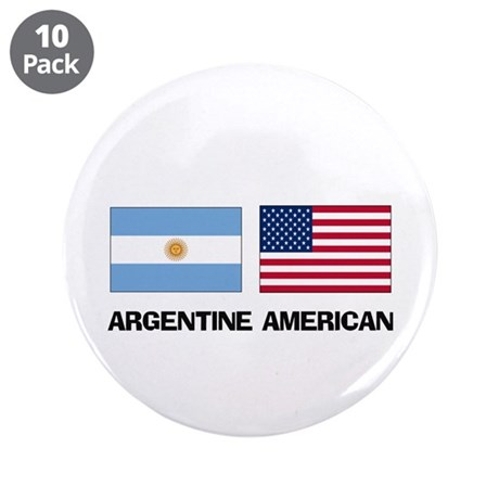 """Argentine American 3.5"""" Button (10 pack)"""