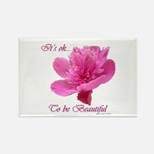 Beautiful Weight Loss Flower Rectangle Magnet
