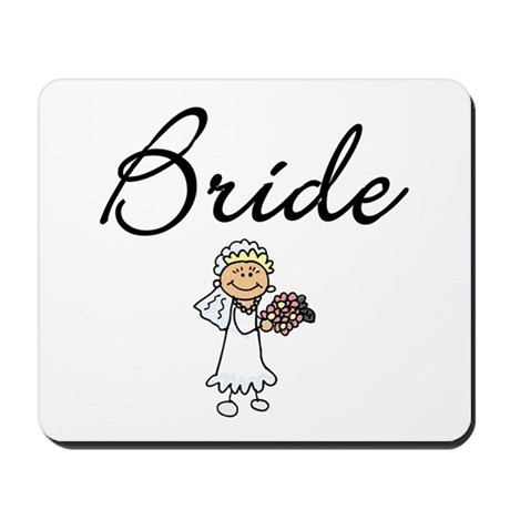 Bride Tshirts and Gifts Mousepad