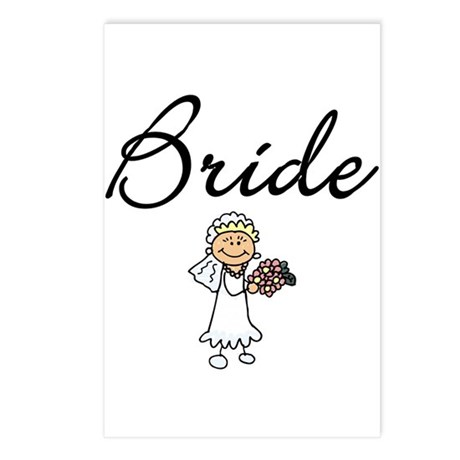 Bride Tshirts and Gifts Postcards (Package of 8)