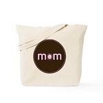 Mom - Brown & Pink Tote Bag