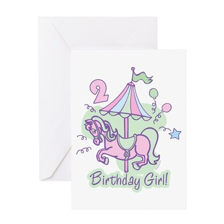 Carousel Birthday Second Greeting Card