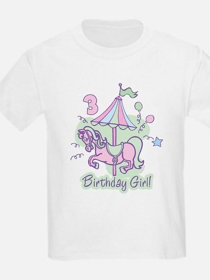 Carousel Birthday Third T-Shirt