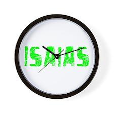 Isaias Faded (Green) Wall Clock