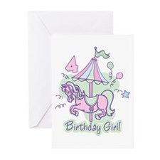 Carousel Birthday Fourth Greeting Cards (Pk of 20)