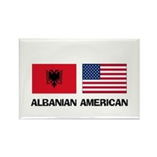 Albanian American Rectangle Magnet