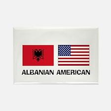Albanian American Rectangle Magnet
