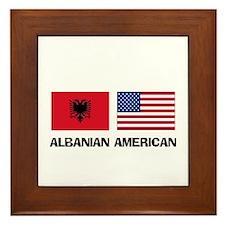Albanian American Framed Tile