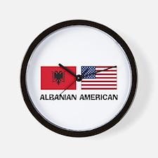 Albanian American Wall Clock