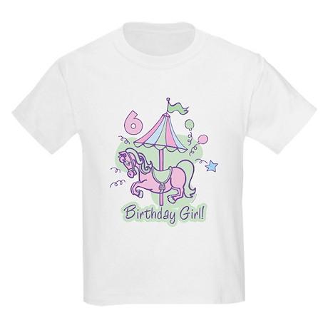 Carousel Birthday Sixth Kids Light T-Shirt