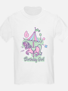 Carousel Birthday Sixth T-Shirt